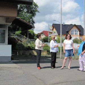 vor dem Bürgerhaus Gelnhaar